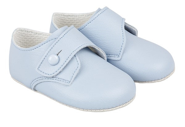 Blue Button Soft Sole Shoes