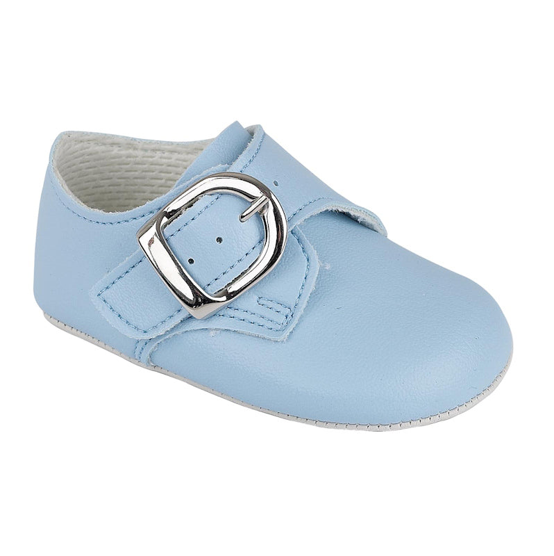 Boys Blue Buckled Soft Sole Shoe