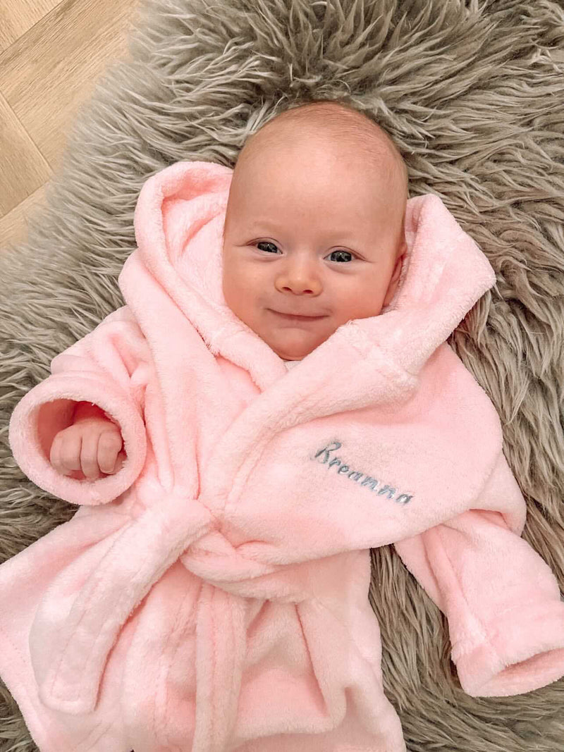 Pink Personalised Embroidered Dressing Gown