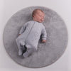 Grey Unisex Triple Hearts  Cotton Sleepsuit