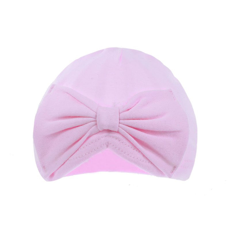 Pink Turban Hat With Bow