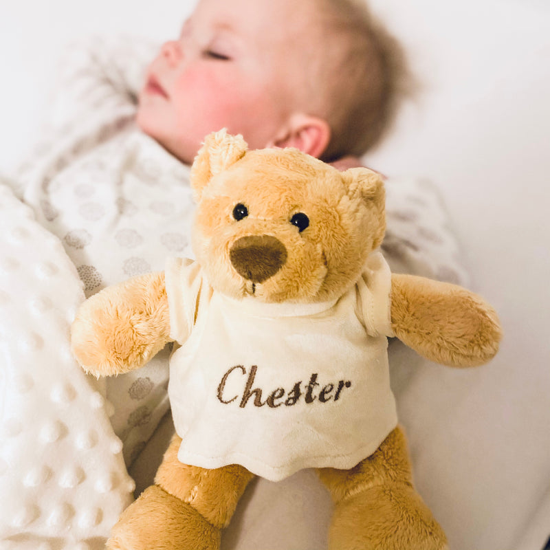Personalised Mumbles Honey Bear In T Shirt