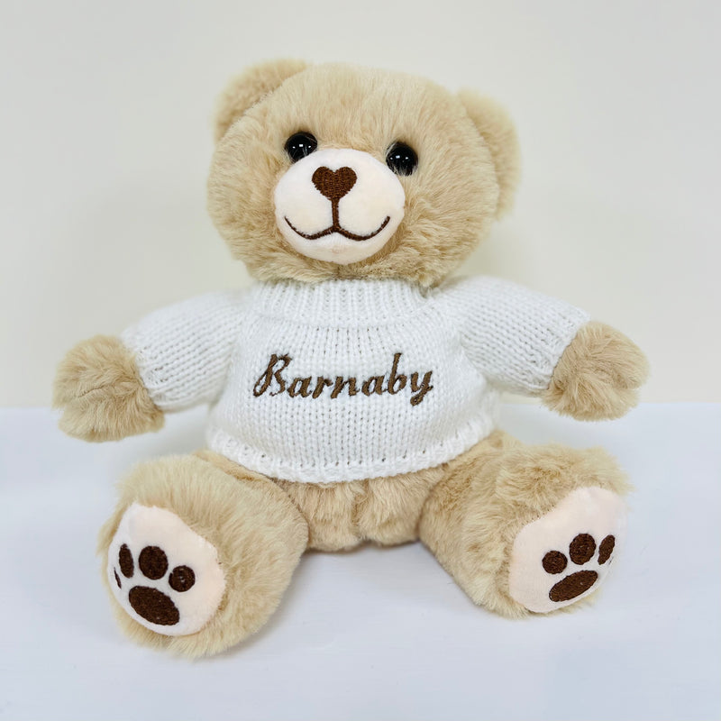 Brown Bear With Personalised Embroidered Jumper