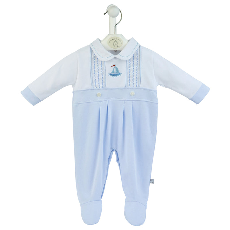 Little Boat Cotton Sleepsuit