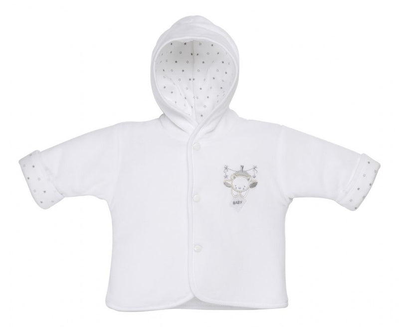White Tiny Bear Velour Jacket