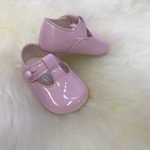 Pink T-Bar Soft Sole Shoes