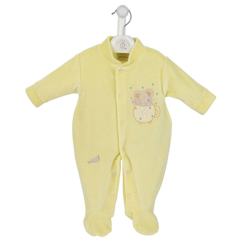 Lemon Mouse & Tea Cup Velour Sleepsuit