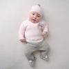 Millie & Ralph Pink & Grey Pom Set & Hat
