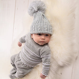 Grey Knitted Two Piece Set