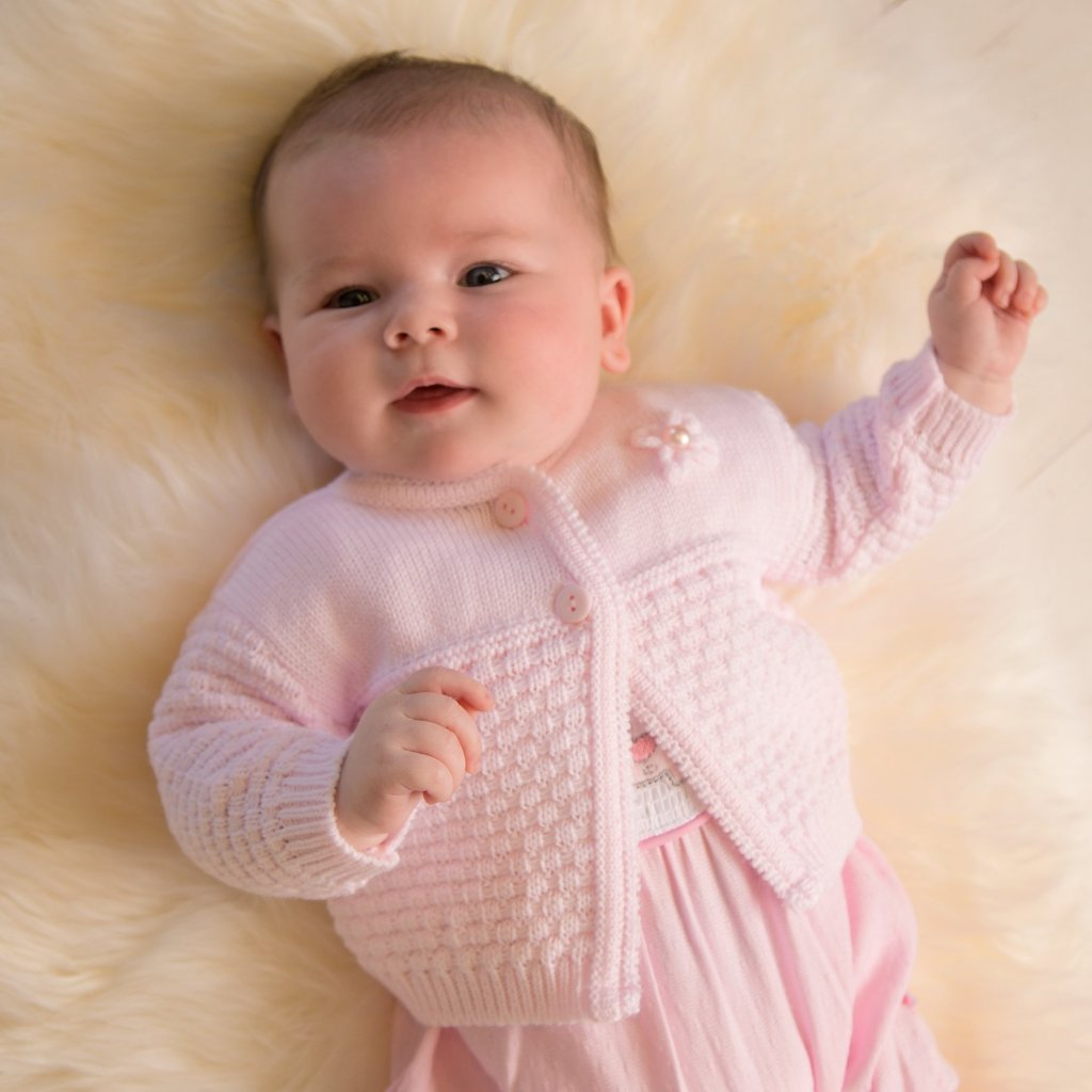 Baby Girls Pink Knitted Cardigan