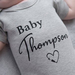 Personalised 'Baby...' Announcement Vest