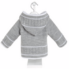 Grey & White Knitted Jacket