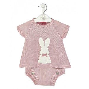 Girls Dusky Pink 'Bunny' Top & Pants