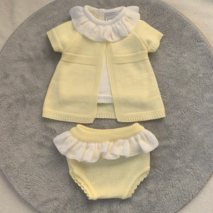 Lemon 3 Piece Knitted Set