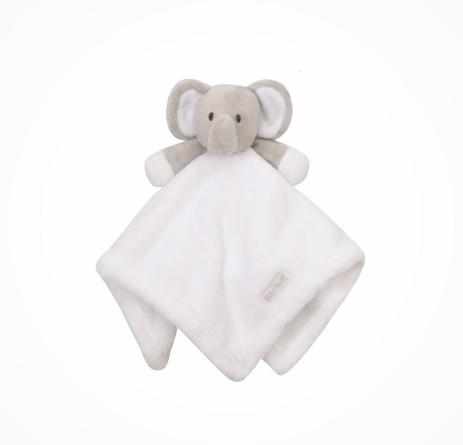 Elephant Comforter - White/Grey