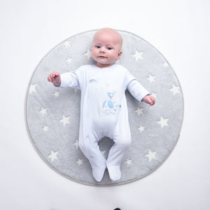 Boys 'Elephant & Bird' Cotton Sleepsuit