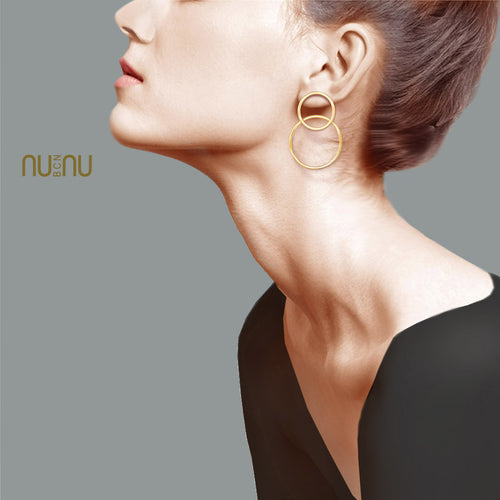 Earrings Two Rings - Earring - NUNU-BCN