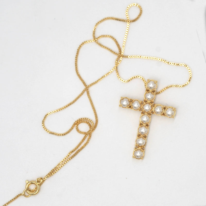 Collar Pearl Cross