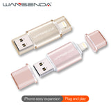 WANSENDA usb flash drive High speed IOS for iPhone 7/7plus/6/6s Plus/5s/Ipad  USB 2.0 u disk 32G 16G memory stick Pen drive gift