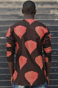 Ready to wear! African wax tunic (Fall leaves) No.T003