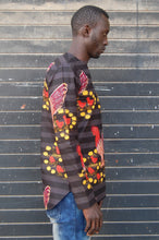 Ready to wear! African wax tunic (Black cock) No.T005