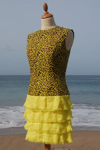 "Dress, Africain wax, ""Ananas"""