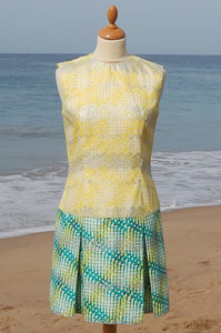 "Dress, Africain wax, ""Tennis"""