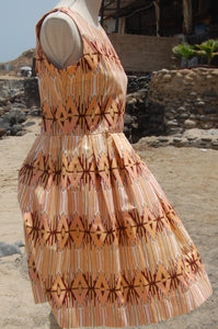 Dress, Africain wax, Corail geometric