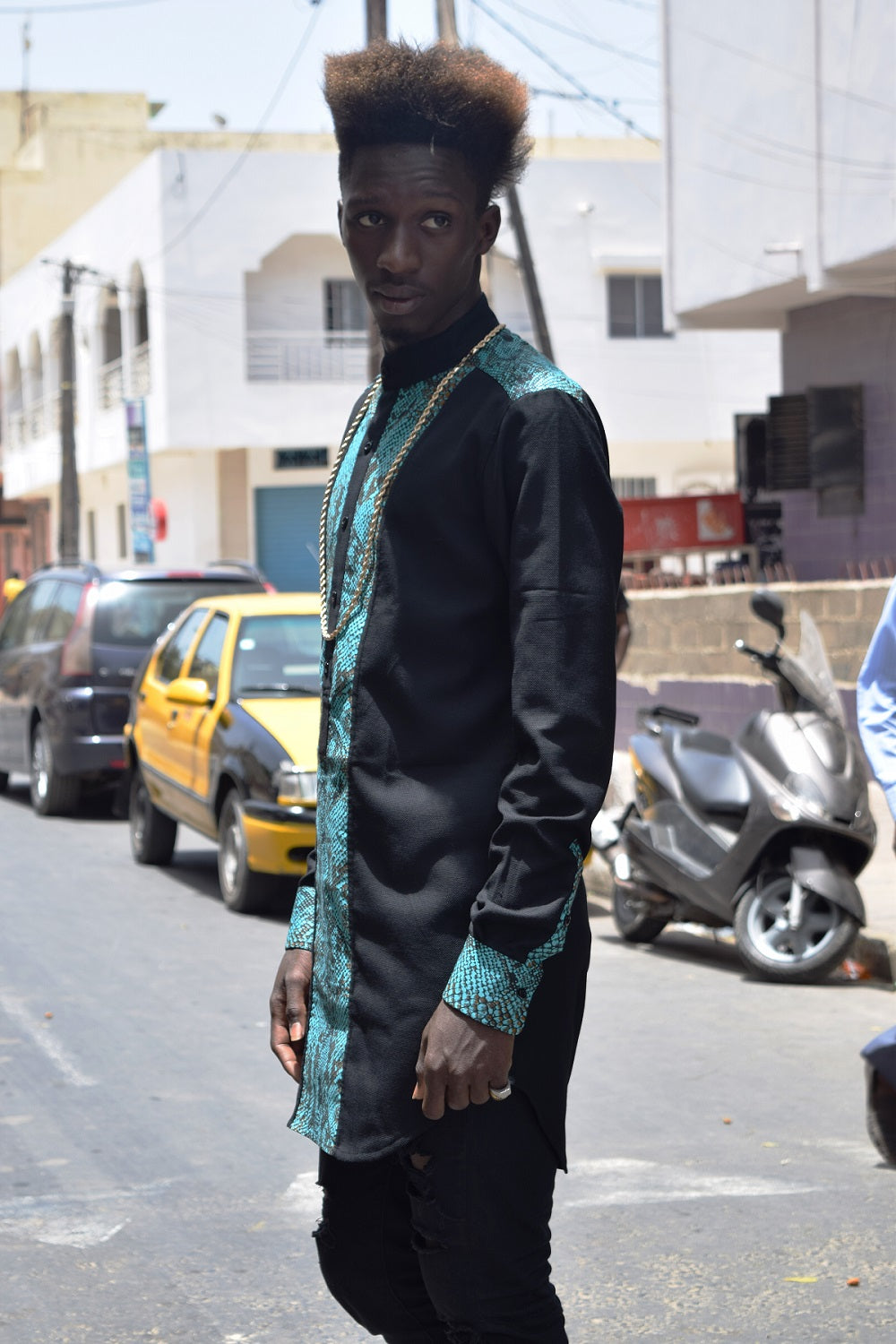 SOLD OUT / Boubou (Black x Bleu crocodile)