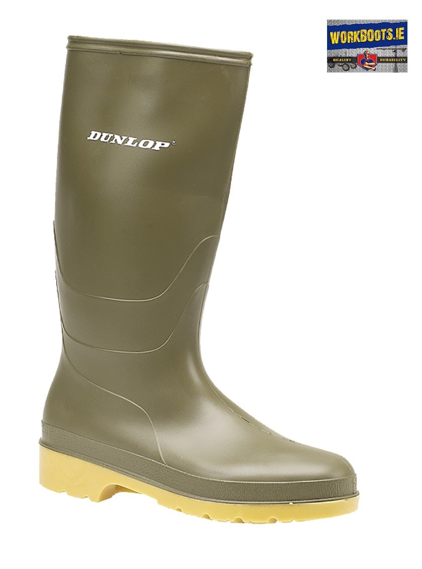 Dunlop Kids Green Wellie