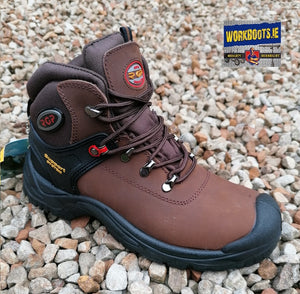 PD1422 BROWN WAXY TIE BOOT