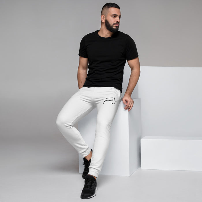 Fred Jo White Men's Joggers - Fred jo Clothing