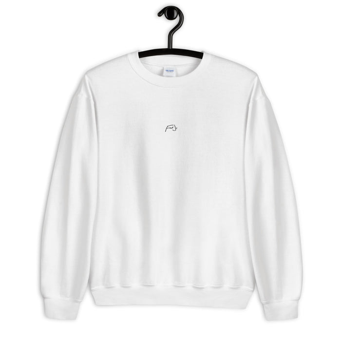 Fred Jo White Chest Unisex Sweatshirt - Fred jo Clothing
