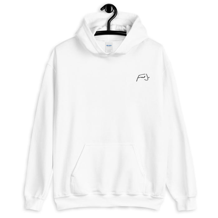 Fred Jo White Unisex Hoodie - Fred jo Clothing