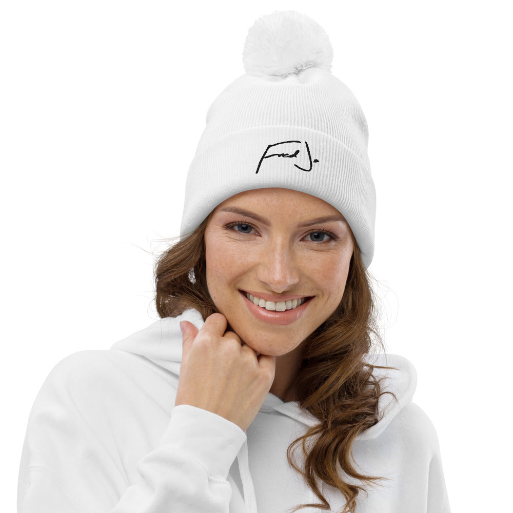 Fred Jo White Pom pom beanie - Fred jo Clothing