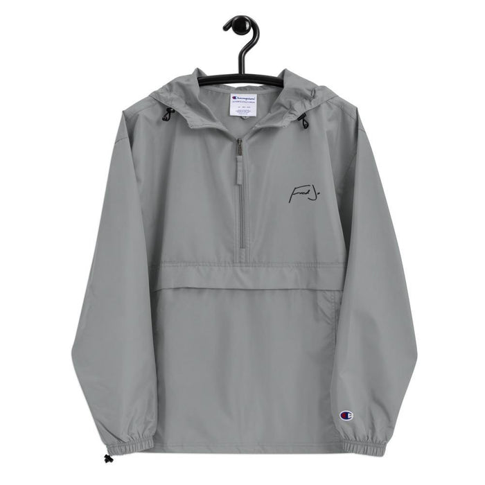 Fred Jo Embroidered Champion Packable Jacket - Fred jo Clothing