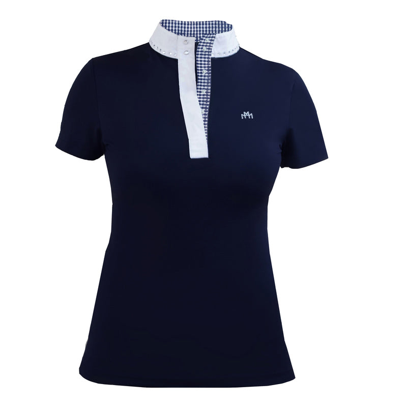 Jill Modern Polo Navy & Navy Gingham Check - Mastermind Equestrian