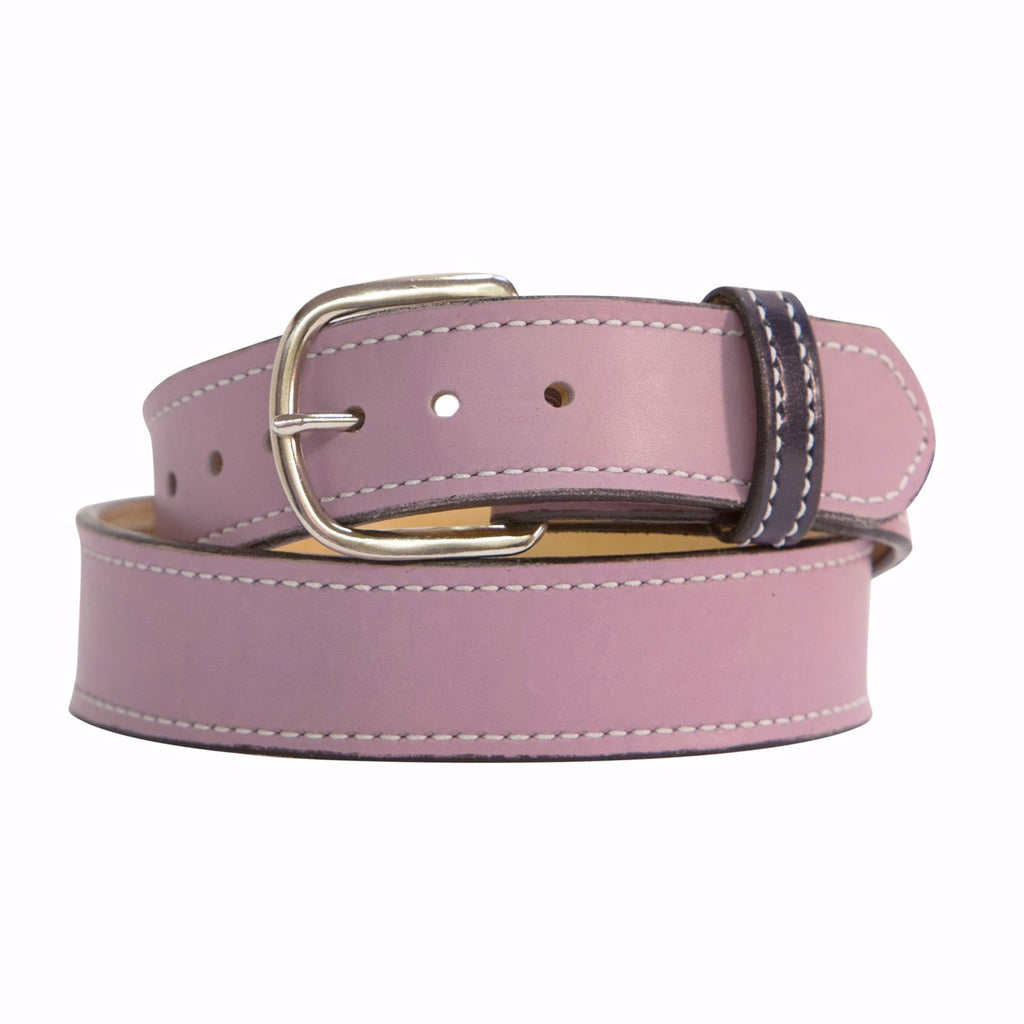 Rose and Chrome Matte Leather Belt - Mastermind Equestrian