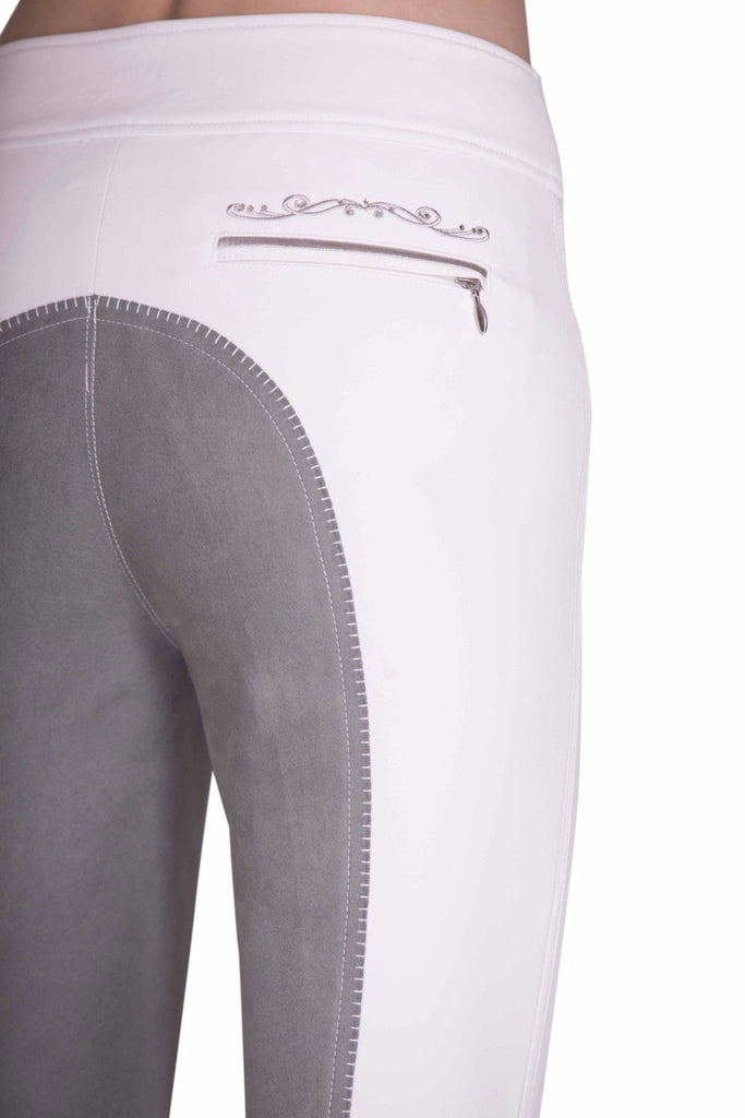 Rigoletto Bright White & Silver Swirl (no belt loops) - Mastermind Equestrian
