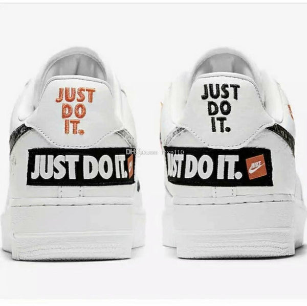 chaussure nike just do it blanche