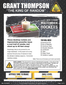 HOW TO MAKE A MATCHBOX ROCKET LAUNCHING KIT