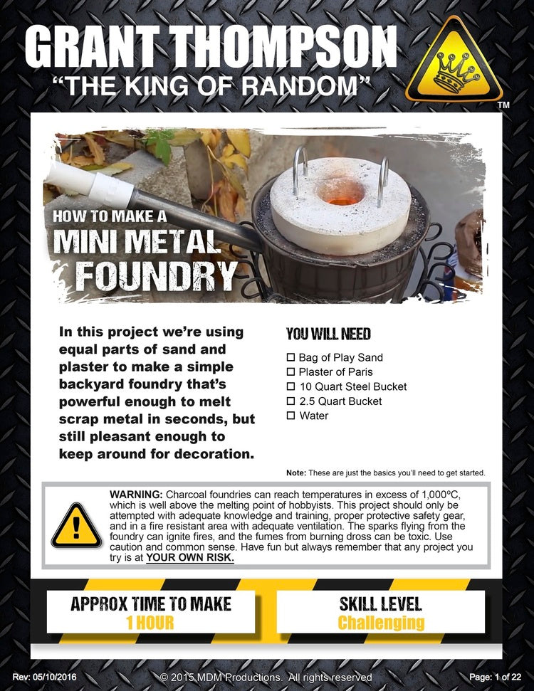 how to make a mini metal foundry random gear