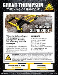 HOW TO MAKE A SKYBLASTER SLINGSHOT (28 PAGE PDF)