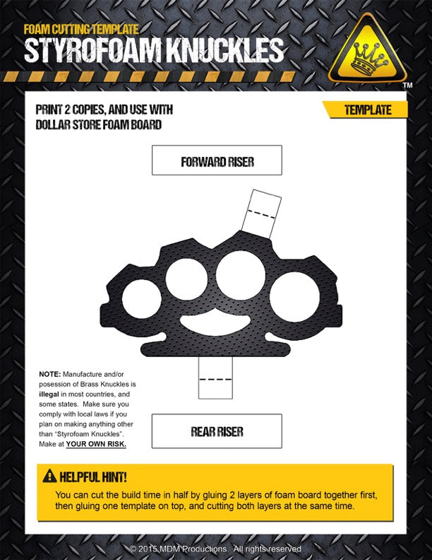 Brass knuckles template random gear for Brass knuckles template