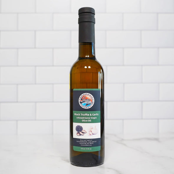 Black Truffle and Garlic Extra Virgin Olive Oil (375 ml / 12.68 OZ)