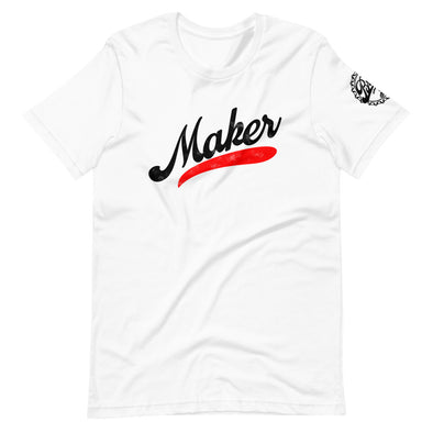 Short-Sleeve Unisex White Maker Stroke T-Shirt
