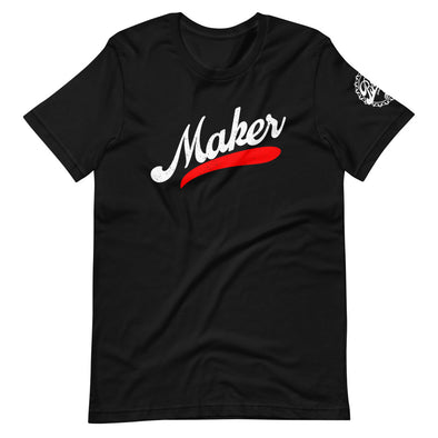 Short-Sleeve Unisex Black Maker Stroke T-Shirt