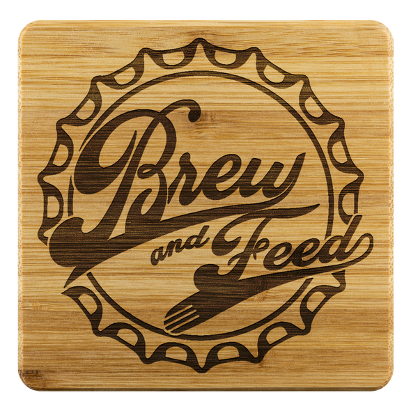 Brew and Feed Drink Coasters