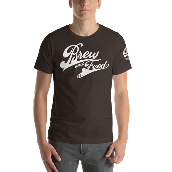 Brew and Feed Script Short-Sleeve Unisex T-Shirt