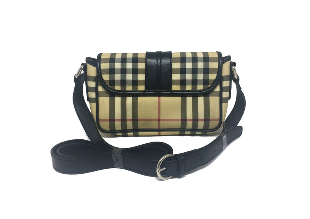 Burberry Small Haymarket Check Crossbody